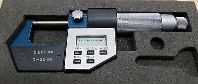 Phase Ii 0-25mm .0001 Grad Electronic Digital Micrometer W Wooden Case