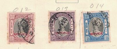 India Nabha O12 - O14 - Officials. Used. Set Of 3   #02 INDNABO12s3 for sale  Shipping to India