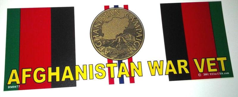 AFGHANISTAN WAR VET Military Bumper Sticker BM0477 EE