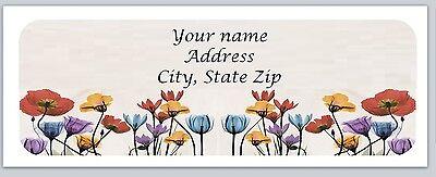 30 Personalized Return Address Labels Flower Buy 3 Get 1 Free C789