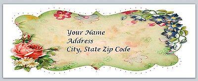 30 Personalized Return Address Labels Flowers Buy 3 get 1 free (fl1)