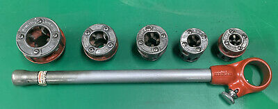 Ridgid 00-r Pipe Threader Die Set 14-1 Ratchet Head Handle Rigid 300 700 8