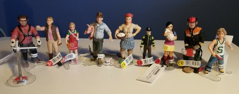 (9) New RETIRED Schleich People, FARMER & WIFE, RIDER, HORSE GROOMER & More!