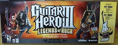 Guitar Hero III Legends of Rock Bundle PC & MAC 2007 Game wired Guitar NEW, usado comprar usado  Enviando para Brazil