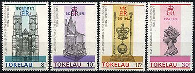Tokelau 1978 SG#61-64 Coronation 25th Anniv MNH Set #D49857