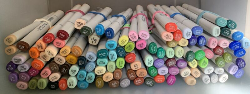 Gently Used Copic Sketch Markers - Wide variety of colors available!!! FREE SHIP