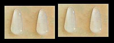 Adhesive Stick-on Silicone Nose Pads for Glasses - 15mm Clear (4-56 (Clear Nose Pads For Glasses)