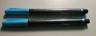 2 Sharpie Fine Point Pens Blue