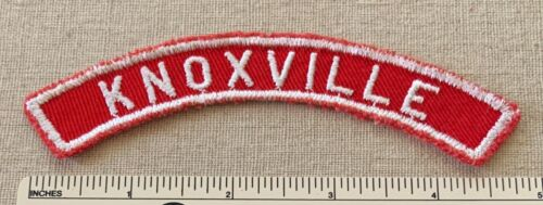 Vintage KNOXVILLE Boy Scout Red & White Community Town Strip PATCH BSA RWS Badge