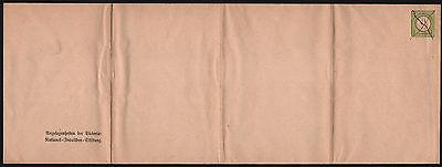 1/3 Gr. gr. Schild GS-Großumschlag (375 x 130 mm), Michel PU 3 B 2/03