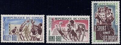 1966 Congo SC# 143 -146 - Sport - Women's Volleyball - 3 Different Stamps - M-NH