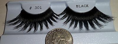 1 pair # 301 False eyelashes Showgirl Drag Queen Cross Dresser Stripper Costume (Paired Costumes)