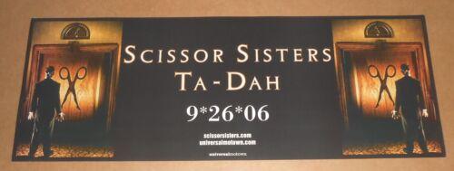 Scissor Sisters Ta-Dah Poster Original 2-Sided 2006 Promo 24x9