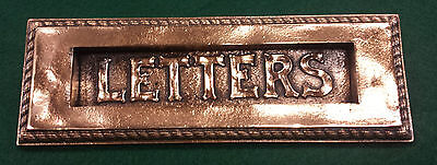 Antique Brass Victorian Fancy Letter Slot  hardware door mail  (Style 2)