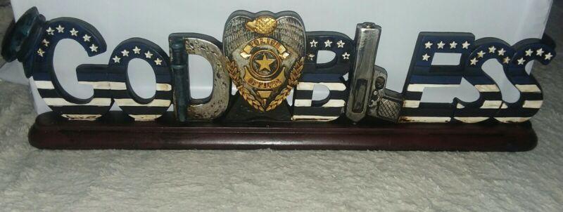 Police Officer God Bless Policemen Desk Top Gift