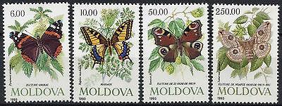 Moldova 1993 SG#94-7 Butterflies & Moths MNH Set #D3367