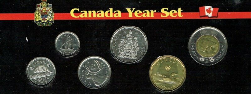 2014 Canadian Brilliant Uncirculated Six Coin Year Set in Nice Display!