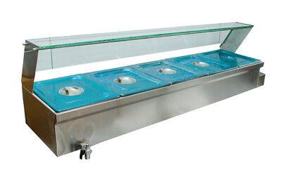 6 Bain-marie Buffet Steam Table Restaurant Food Warmer 110v High Quality 5 Pan