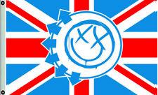 Blink 182 Flag Band Smiley Face Smiling British UK Banner 3X5FT US Seller