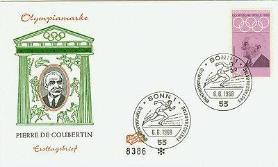 BRD FDC Ersttagsbrief 1968 Olympia Mexiko Mi.Nr.563