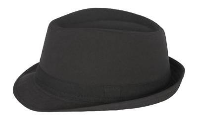 Cotton Solid Fedora Hat-Black](Fedora Black)