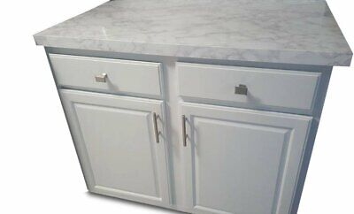 EZFAUX DECOR Peel and Stick White and Grey Marble Countertop