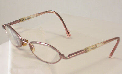 Child's Eyeglass Frames Girl's Pink with Glitter and Stars has P Insignia (Sturdy Eyeglass Frames)
