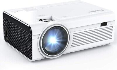 Projector, Crosstour P700 Mini LED Video Projector Home Theater Supporting 1080P