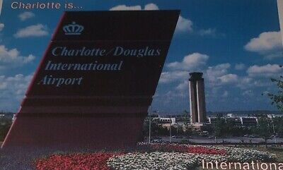 Charlotte Douglas International Airport Vintage Unposted Postcard