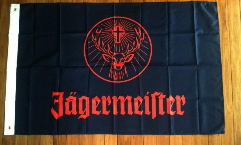 JAGERMEISTER FLAG 3 x 5ft - 92cm x 148cm BAR FLAGS WITH GROMMETS AND SEALED NEW