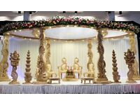 wooden effect mandap