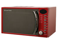 ***NEW***Russell Hobbs RHM1714RC 17 Litre Heritage Red Color Digital Microwave 700W RRP £99.99