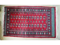 Bokhara Style Rug 3'x5' (94 x 160cm) Excellent Condition. Red/Green.