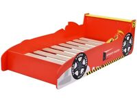 Toddlers wooden car bed