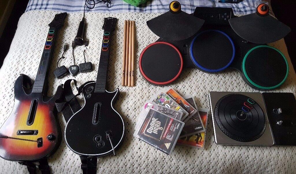 Full PS3 Guitar Hero / DJ Hero / Rock Band Kit