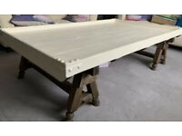 A GREAT LOOKING RUSTIC HAND MADE COFFEE TABLE IN NICE PRE-LOVED CONDITION FREE LOCAL DELIVERY