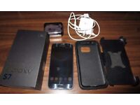 Excellent Condition - Samsung Galaxy S7, 64GB Micro SD, Wireless Charger & Case