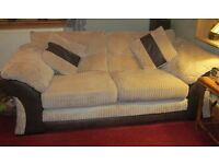 Two 3-seater sofas for sale, VGC £250 for both