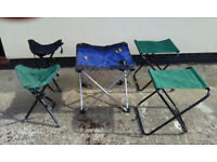 Camping/Fishing stools and canvass table