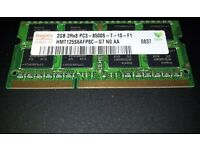 ~~## Hynix 2GB 2Rx8 PC3-8500S-7-10-F1 Laptop RAM ##~~