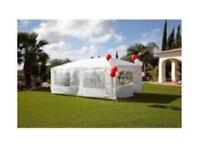 Gazebo Large 3M x 6M Party Gazebo Ideal for The Summer Months in White Brand New