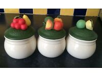 3 NEW CERAMIC CANISTERS
