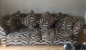 Zebra Print beautiful fabric Fishpools 8' sofa