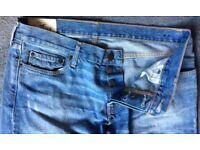 HOLLISTER Men's Jeans W34 X L 32 Blue Denim