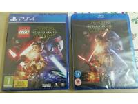 New PS4 Lego Star Wars the force awakens game and blu ray