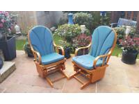 Wooden glide rocking chair