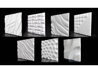 3D WALL PANELS , GYPSUM 50cm x 50cm (no 3d PVC, no 3d wallpaper, no 3d foam)