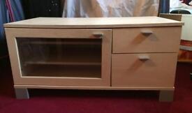 Birch wood tv cabinet