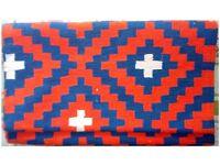 New Handmade double sided cotton Rug - Burfi cut pattern