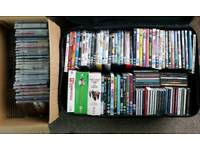 Job lot of dvds and cds - SENSIBLE OFFERS